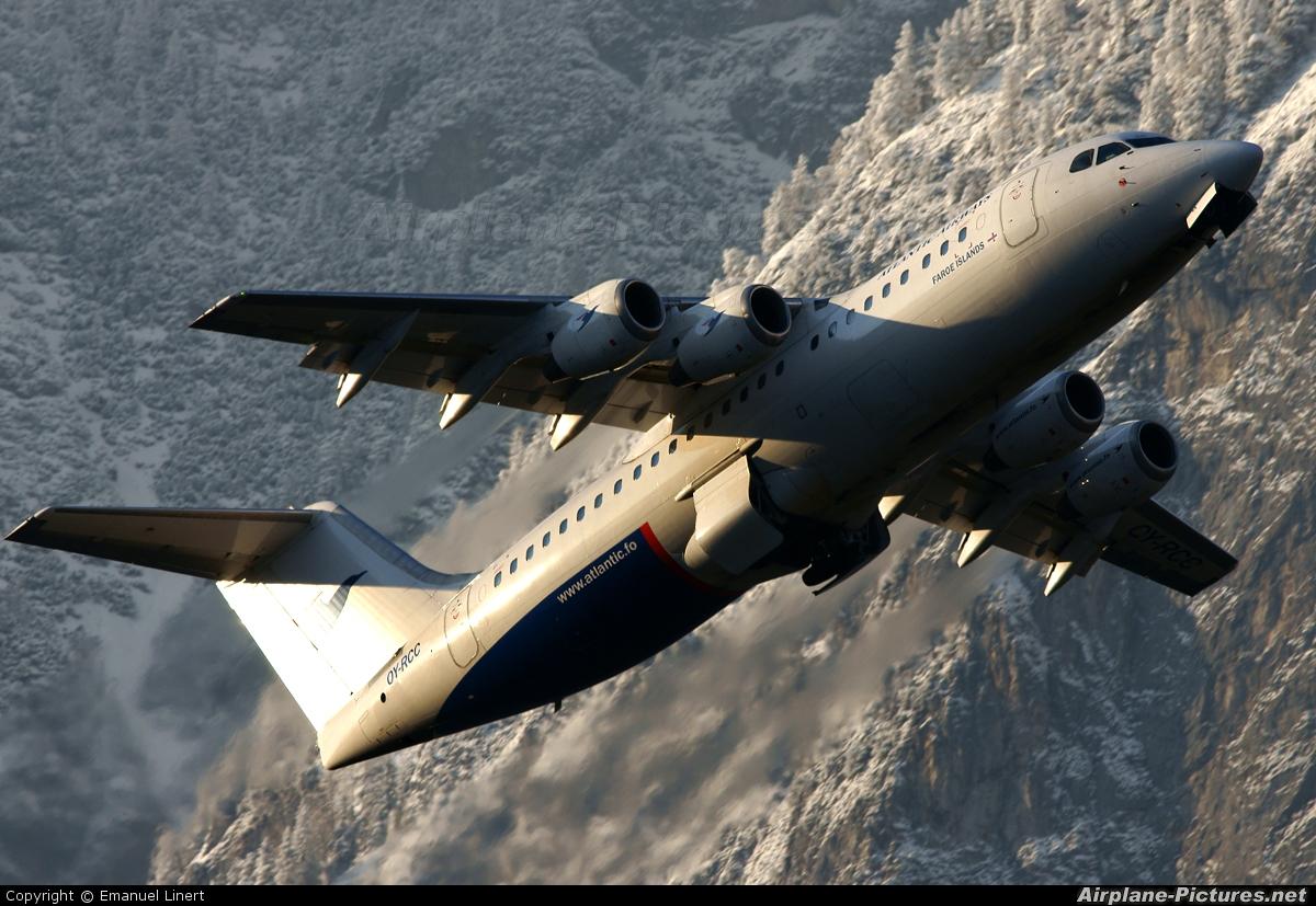 Atlantic Airways OY-RCC aircraft at Innsbruck