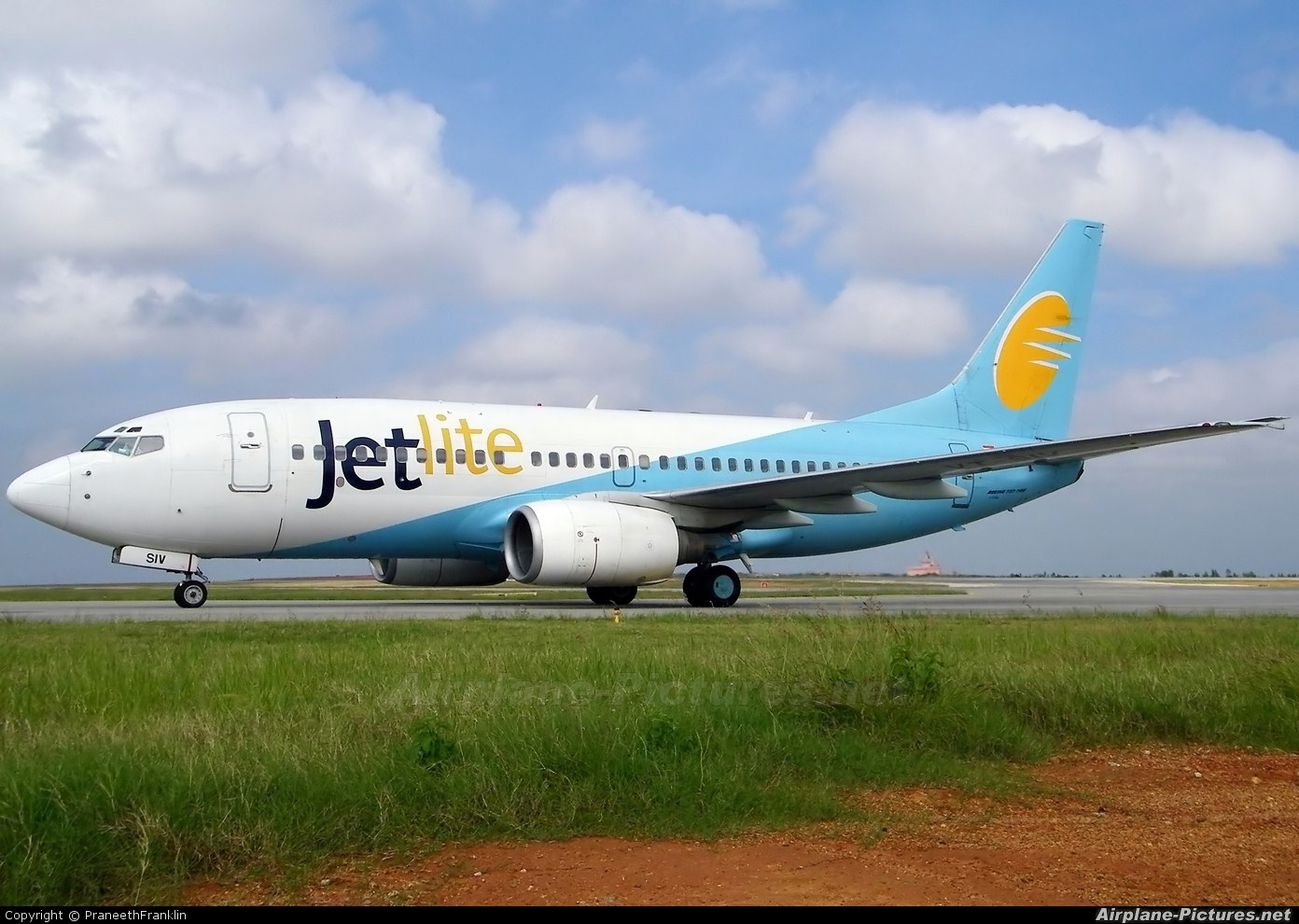 Jet Lite India VT-SIV aircraft at Bangalore - Bengaluru Intl