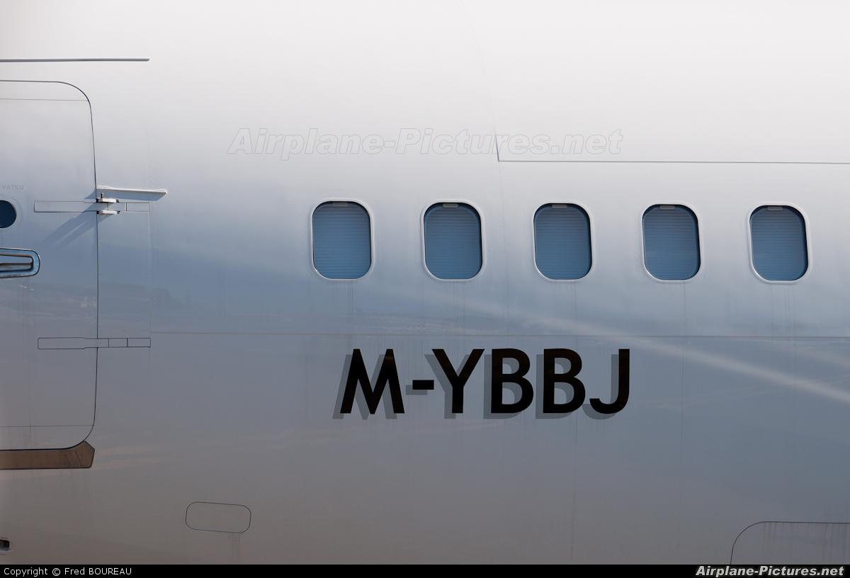 Global Jet Austria M-YBBJ aircraft at Sint Maarten - Princess Juliana Intl