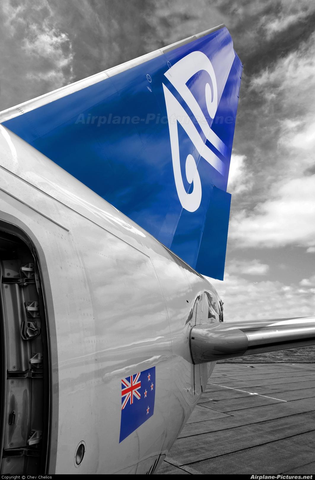 Air New Zealand ZK-OKM aircraft at Christchurch Intl