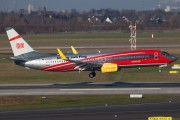 TUIfly's brand new Deutsche Bahn logojet fresh out of the paint - D-ATUC title=