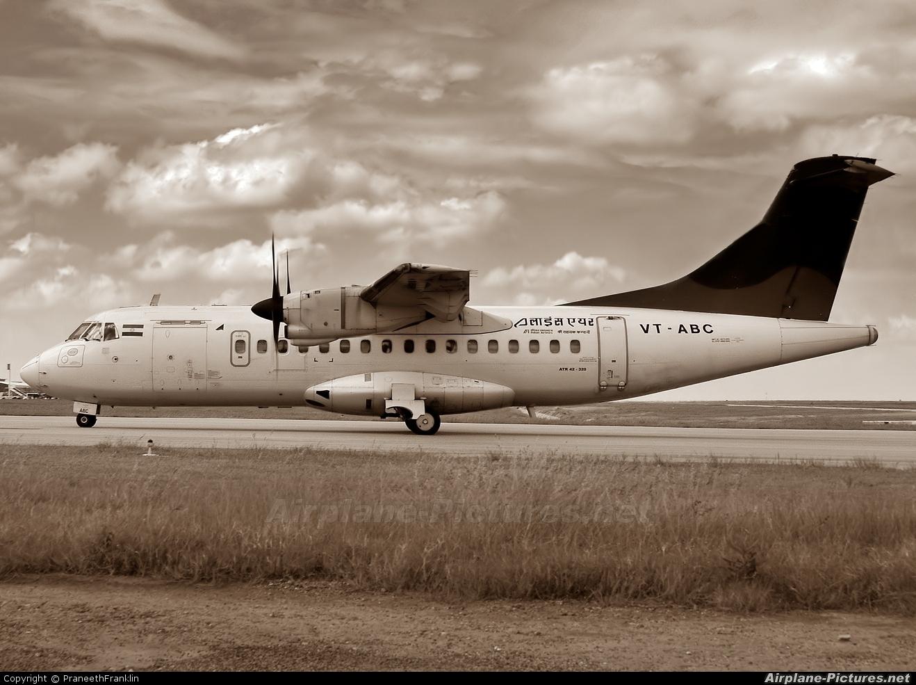 Alliance Air VT-ABC aircraft at Bangalore - Bengaluru Intl
