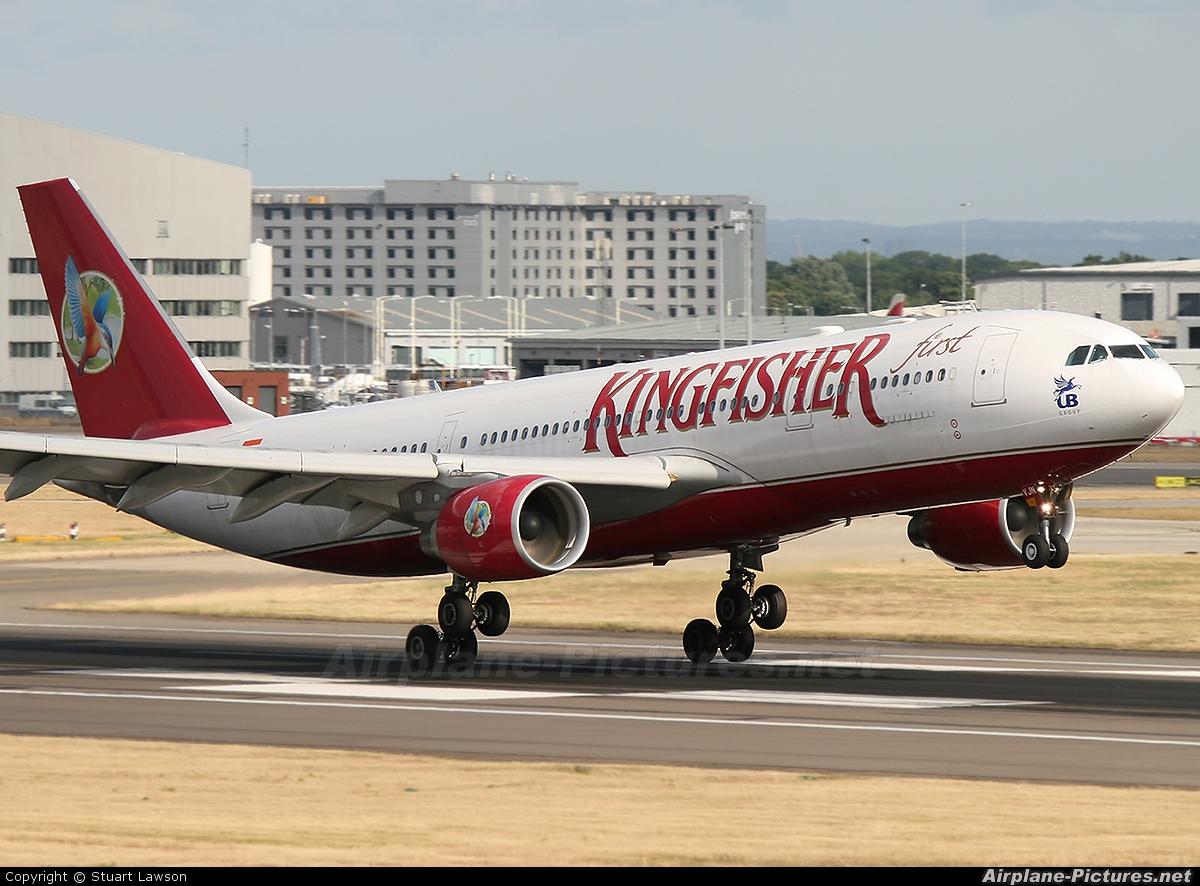 Kingfisher Airlines VT-VJN aircraft at London - Heathrow