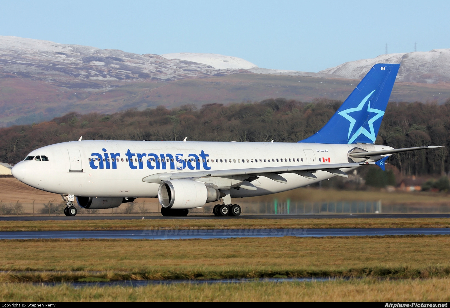 c glat air transat airbus a310 at glasgow photo id 116148 airplane pictures net
