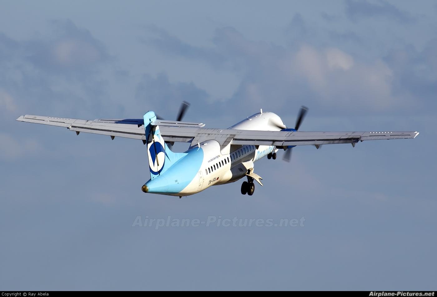 Danube Wings OM-VRA aircraft at Malta Intl