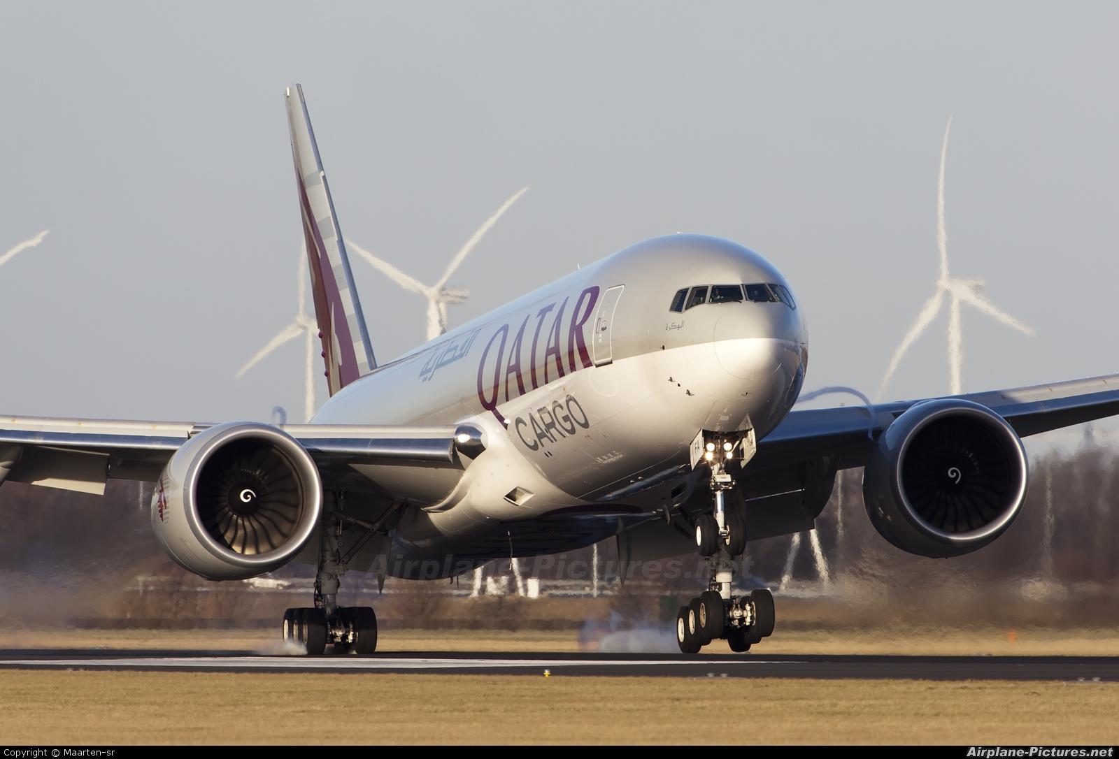 Qatar Airways Cargo A7-BFA aircraft at Amsterdam - Schiphol