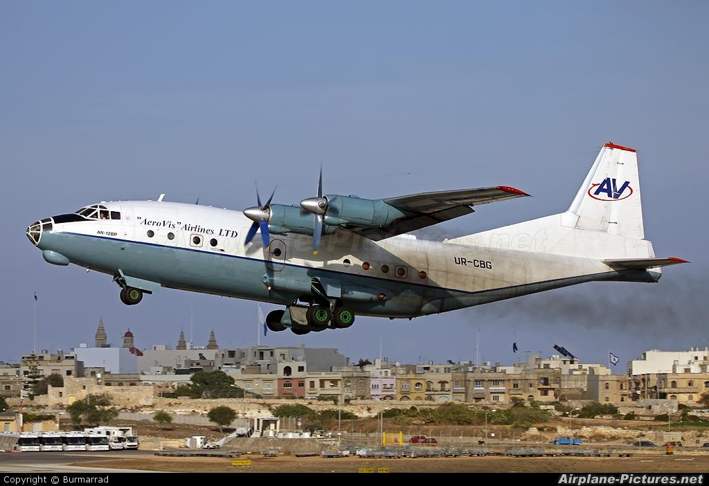 AeroVis Airlines UR-CBG aircraft at Malta Intl