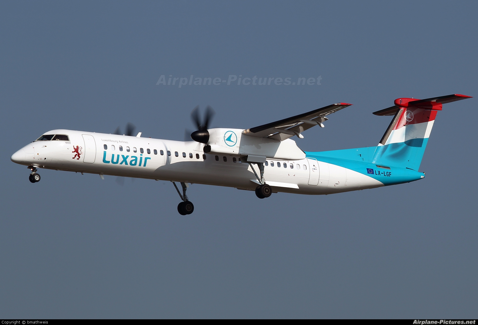 Luxair LX-LGF aircraft at Frankfurt
