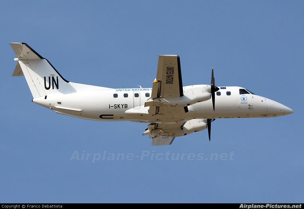 United Nations I-SKYB aircraft at Malta Intl