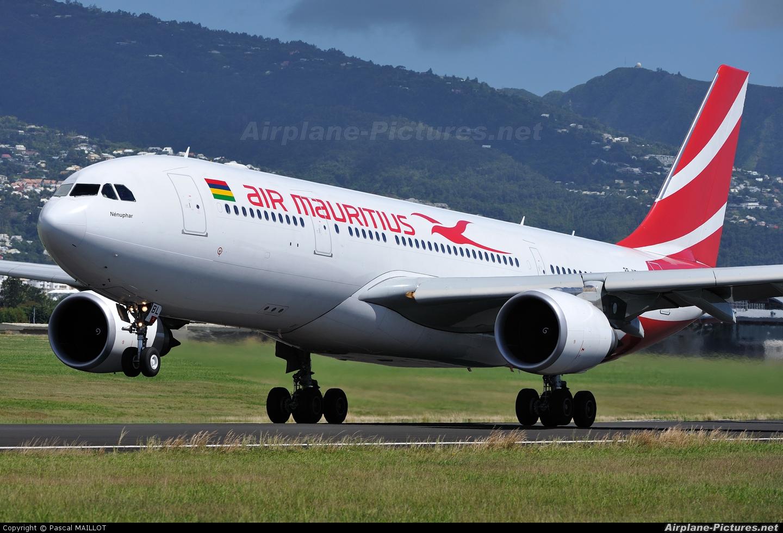 Air Mauritius 3B-NBL aircraft at Roland Garros - Saint-Denis