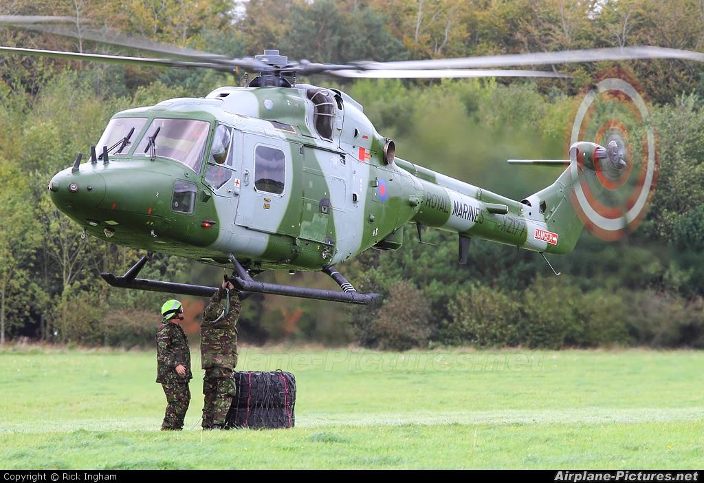 Royal Navy: Royal Marines XZ177 aircraft at Salisbury Plain SPTA