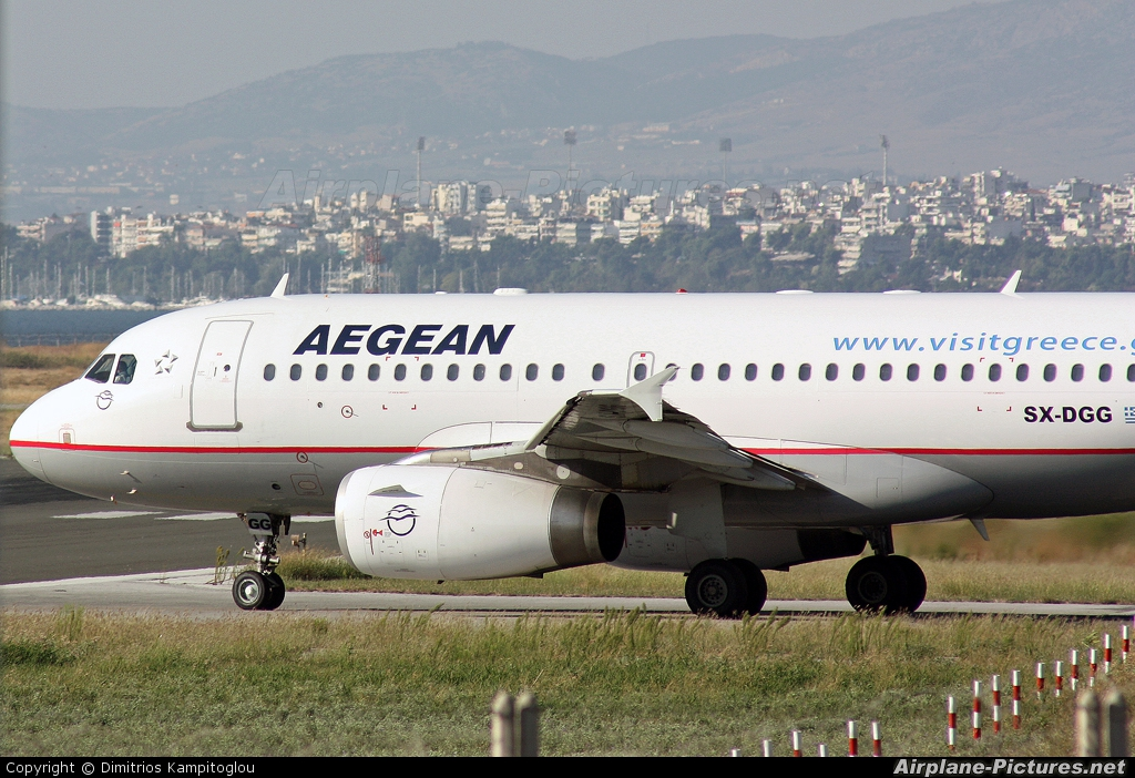 Aegean Airlines SX-DGG aircraft at Thessaloniki - Makedonia