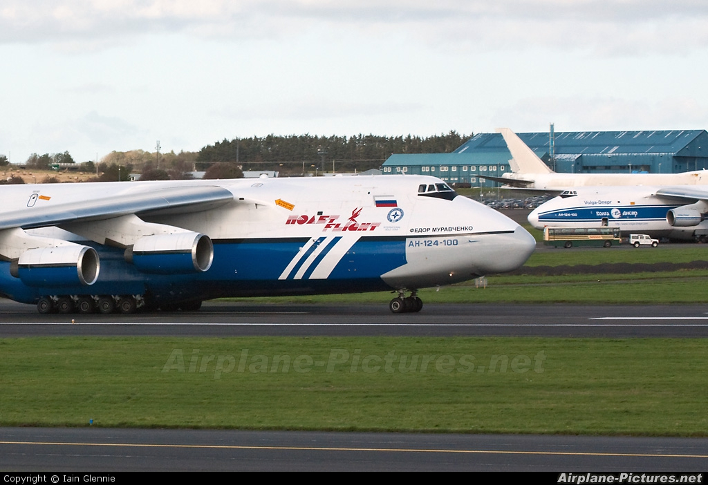 Polet Flight RA-82077 aircraft at Prestwick