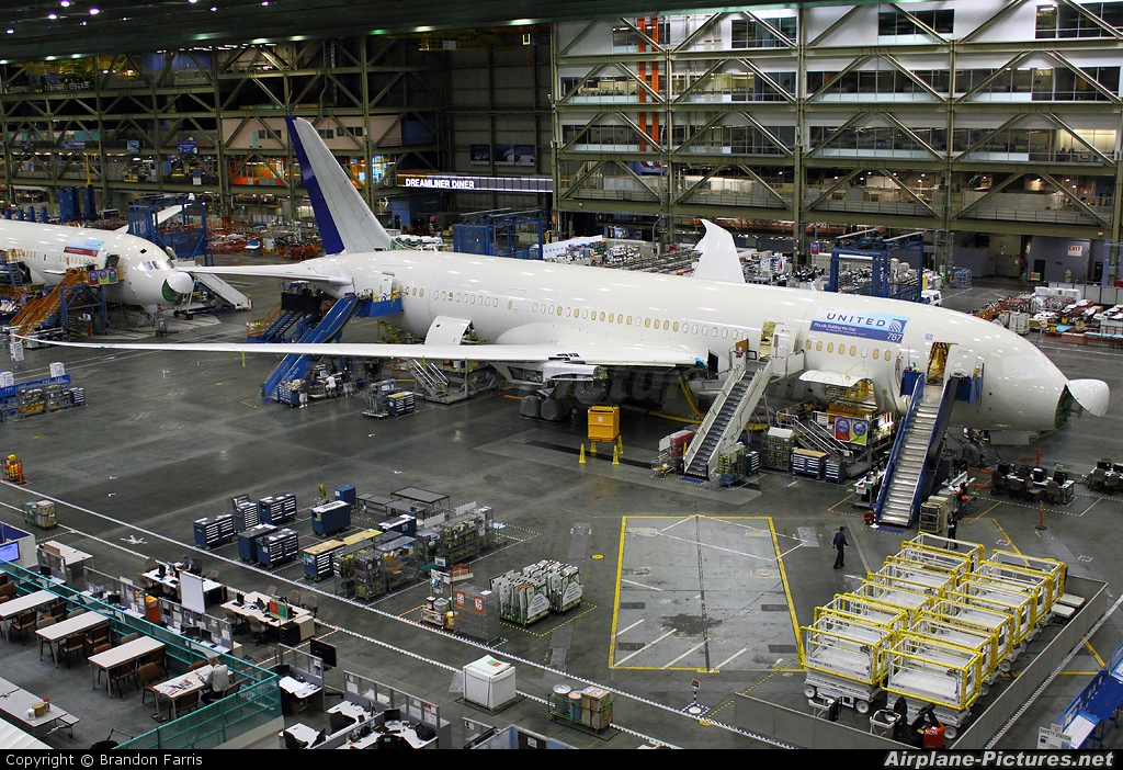 Boeing Company - aircraft at Everett - Snohomish County / Paine Field