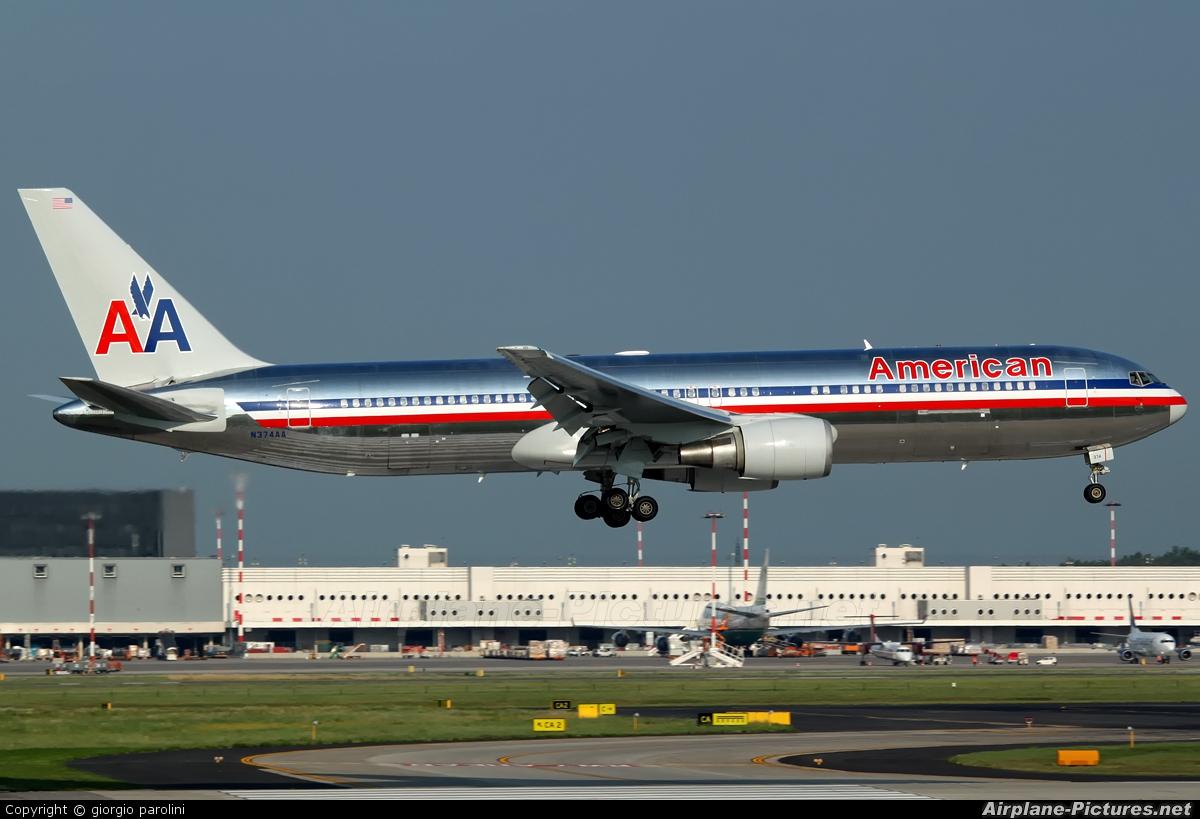 N374aa American Airlines Boeing 767 300 At Milan