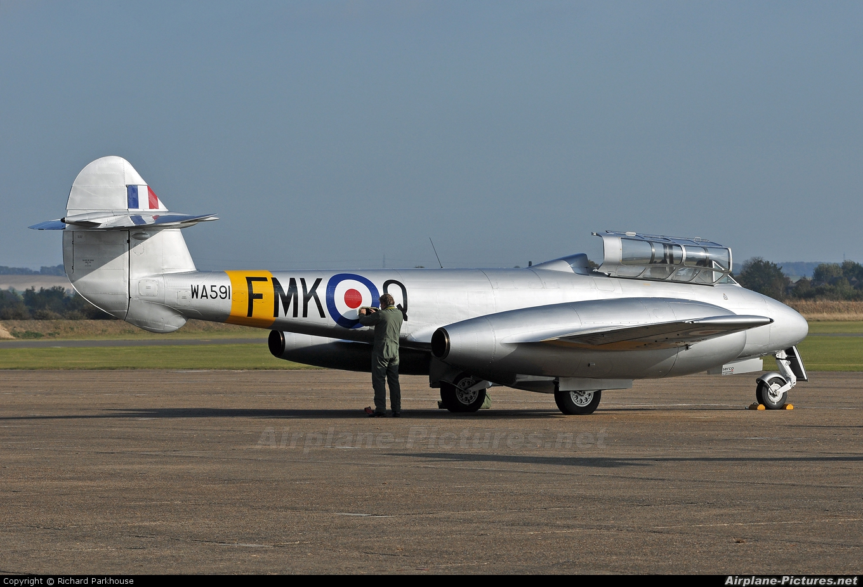 Aviation Heritage G-BWMF aircraft at Duxford