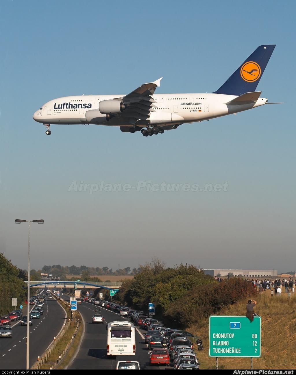 Lufthansa D-AIMF aircraft at Prague - Václav Havel