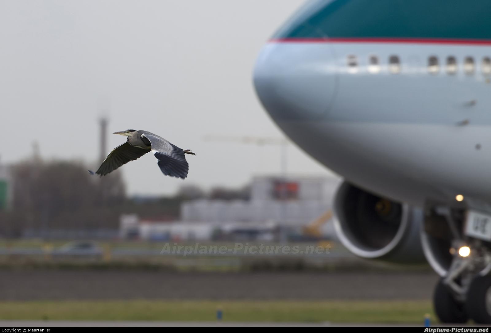 Cathay Pacific B-HUE aircraft at Amsterdam - Schiphol