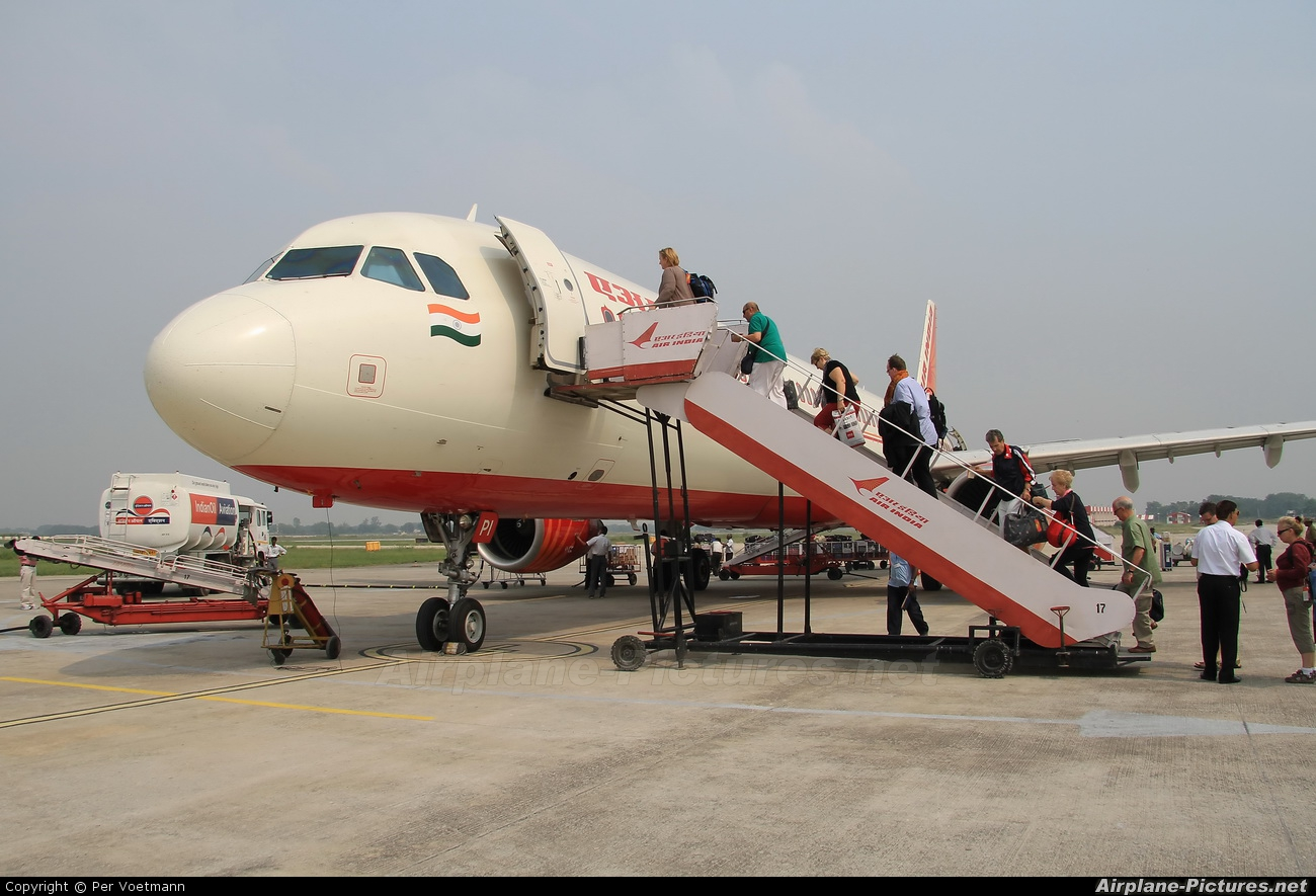 Air India VT-PPI aircraft at Varanasi