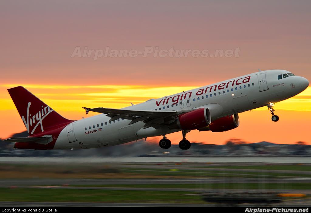 Virgin America N641VA aircraft at Boston - General Edward Lawrence Logan Intl