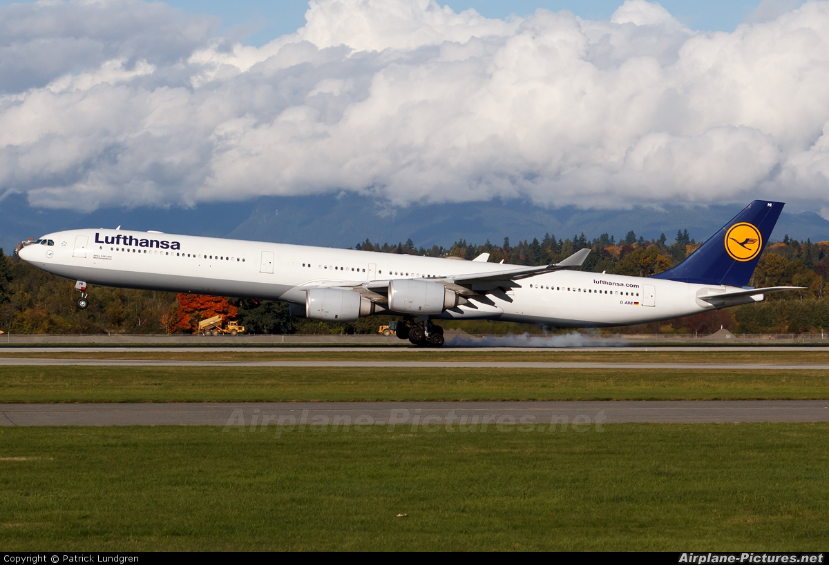 d aihi lufthansa airbus a340 600 at vancouver intl bc. Black Bedroom Furniture Sets. Home Design Ideas