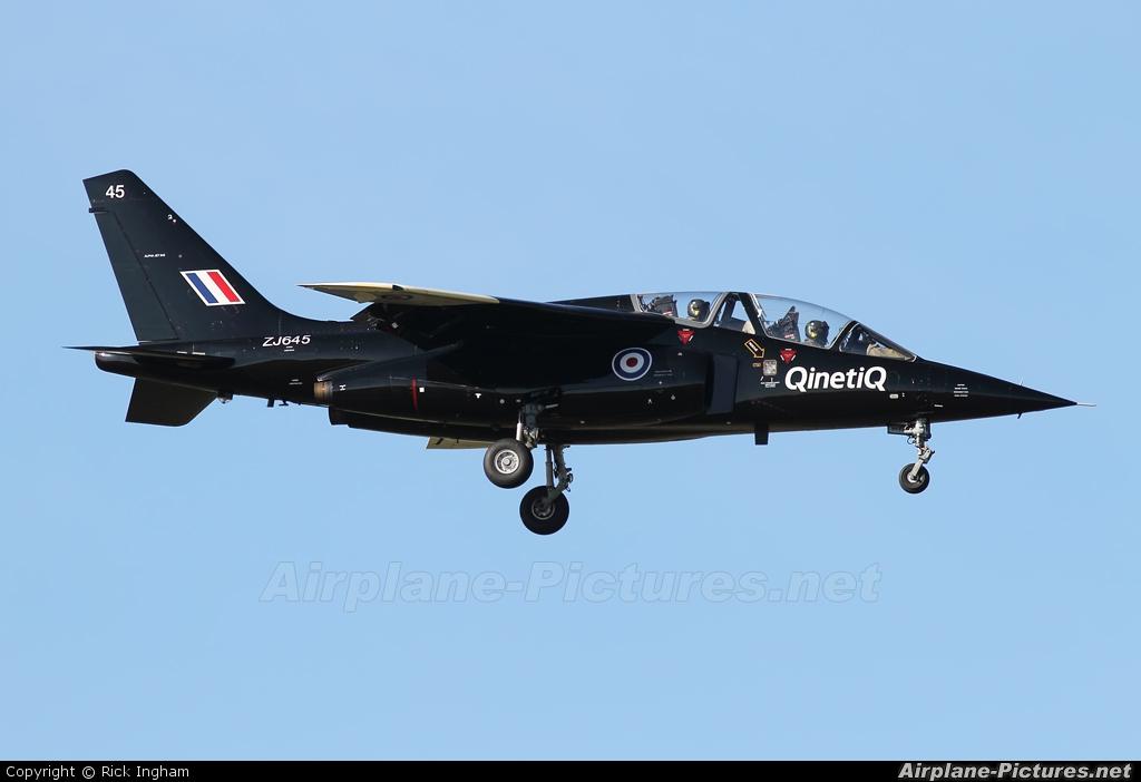 UK - QinetiQ ZJ645 aircraft at Boscombe Down