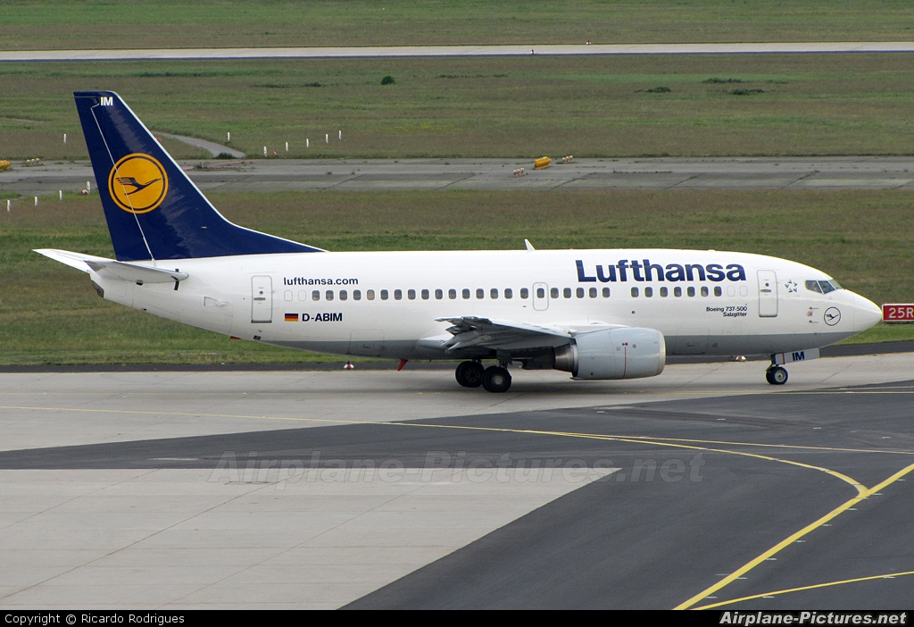 Lufthansa D-ABIM aircraft at Frankfurt