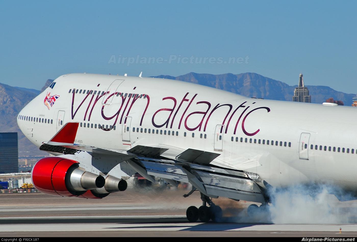 Virgin Atlantic G-VAST aircraft at Las Vegas - McCarran Intl
