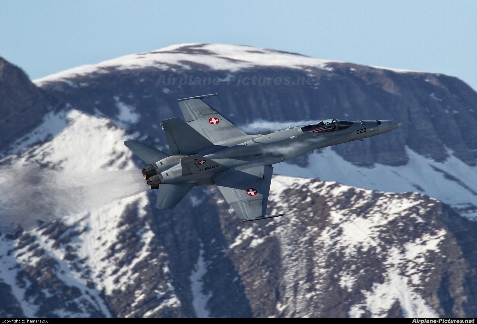 Switzerland - Air Force J-5023 aircraft at Off Airport - Switzerland