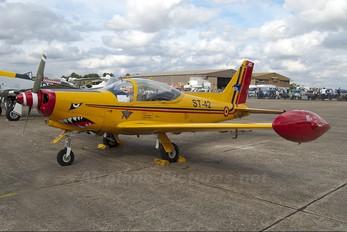 "ST-42 - Belgium - Air Force ""Hardship Red"" SIAI-Marchetti SF-260"