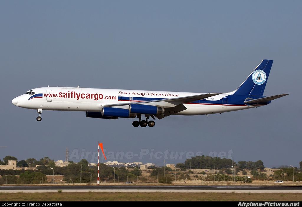 Stars Away Aviation ZS-OSI aircraft at Malta Intl
