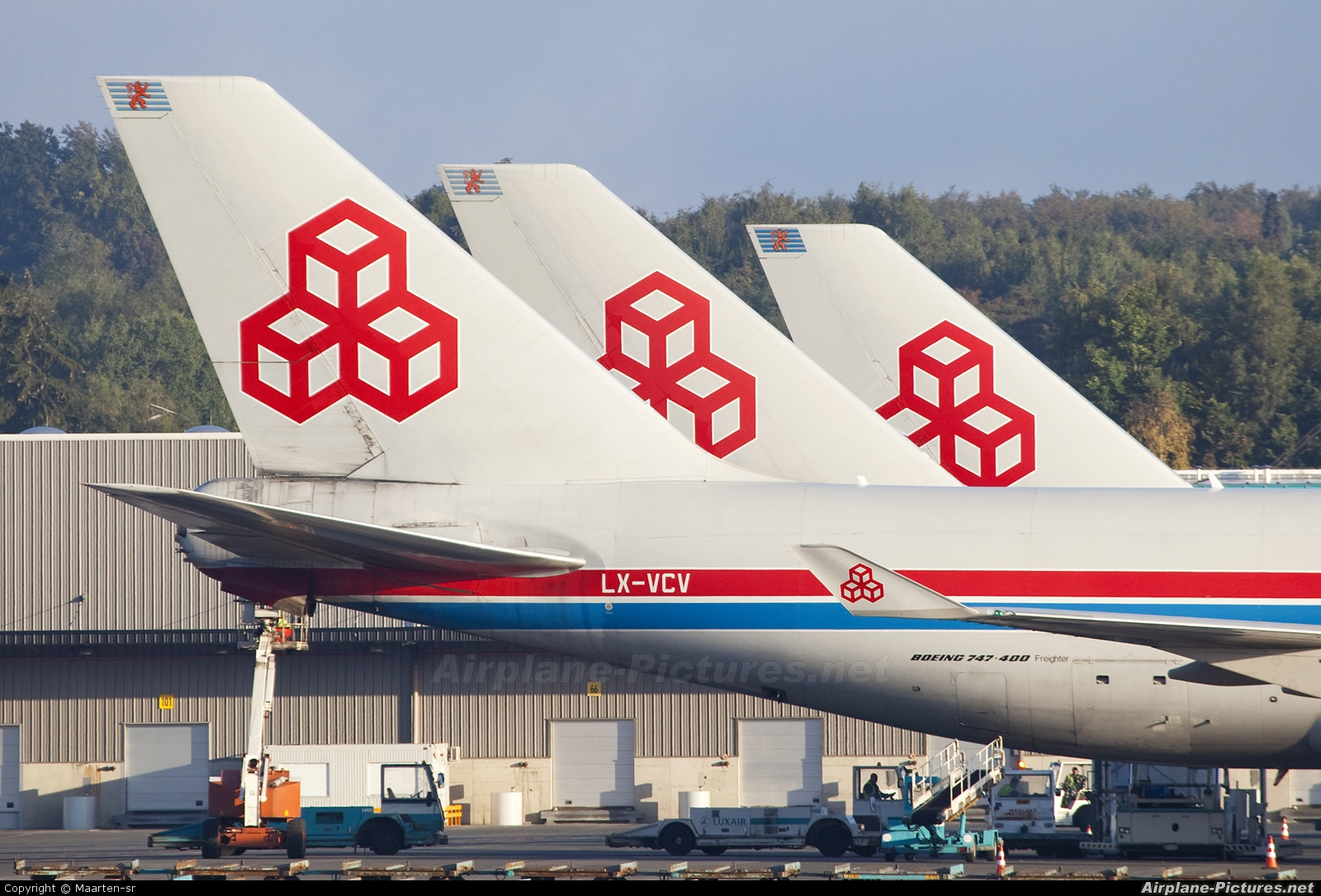 Cargolux LX-VCV aircraft at Luxembourg - Findel
