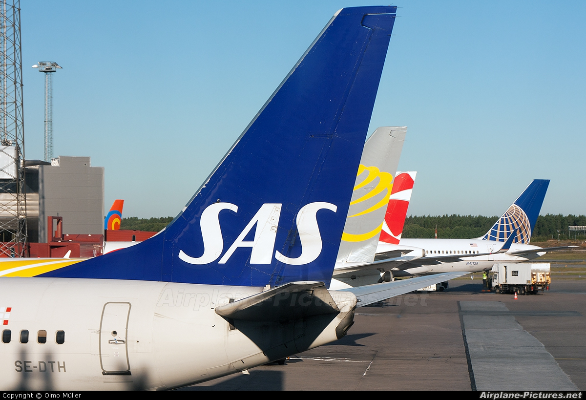 SAS - Scandinavian Airlines SE-DTH aircraft at Stockholm - Arlanda