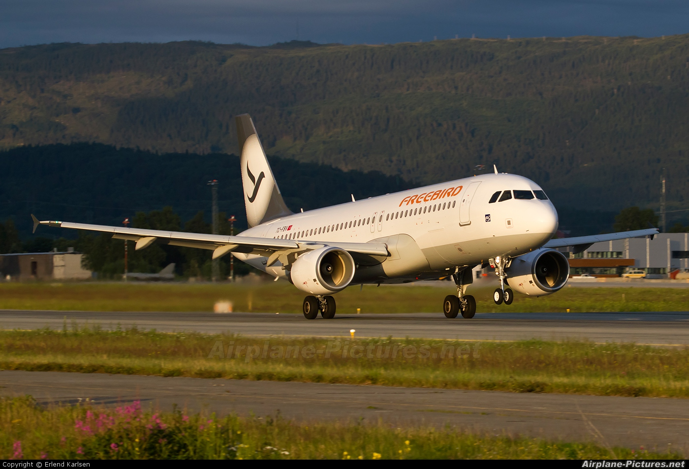 FreeBird Airlines TC-FBV aircraft at Trondheim - Vaernes