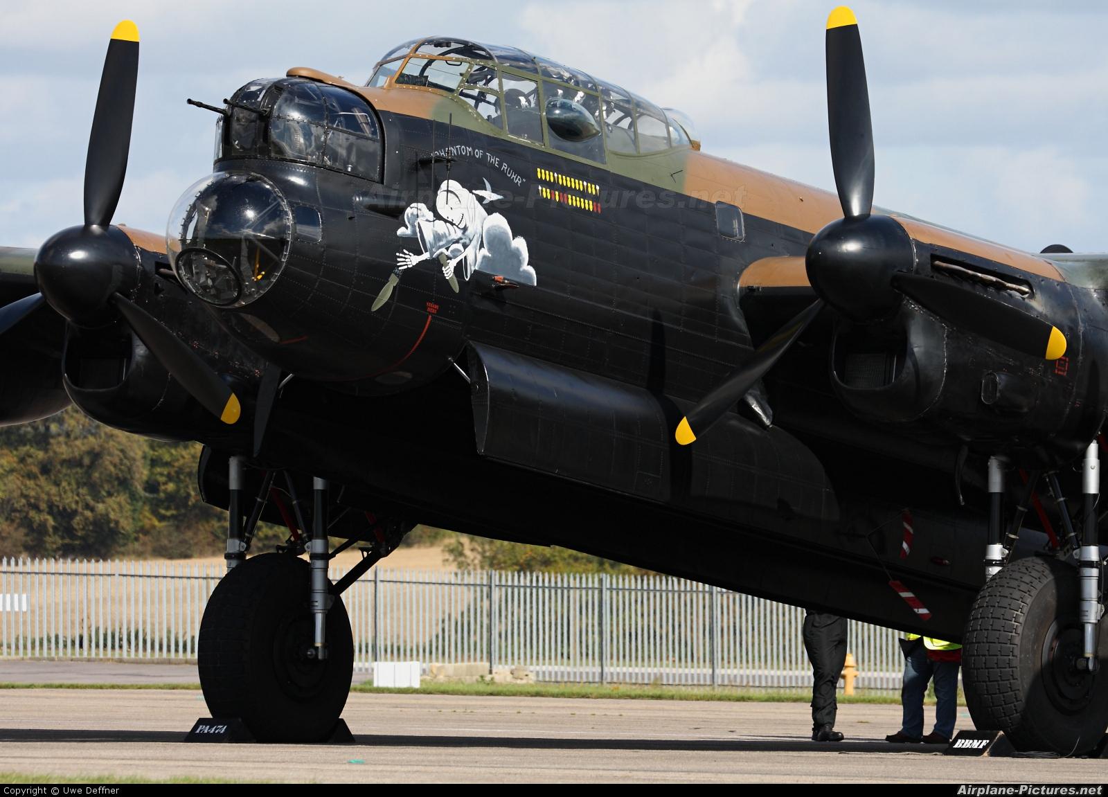"""Royal Air Force """"Battle of Britain Memorial Flight&quot PA474 aircraft at Kemble"""