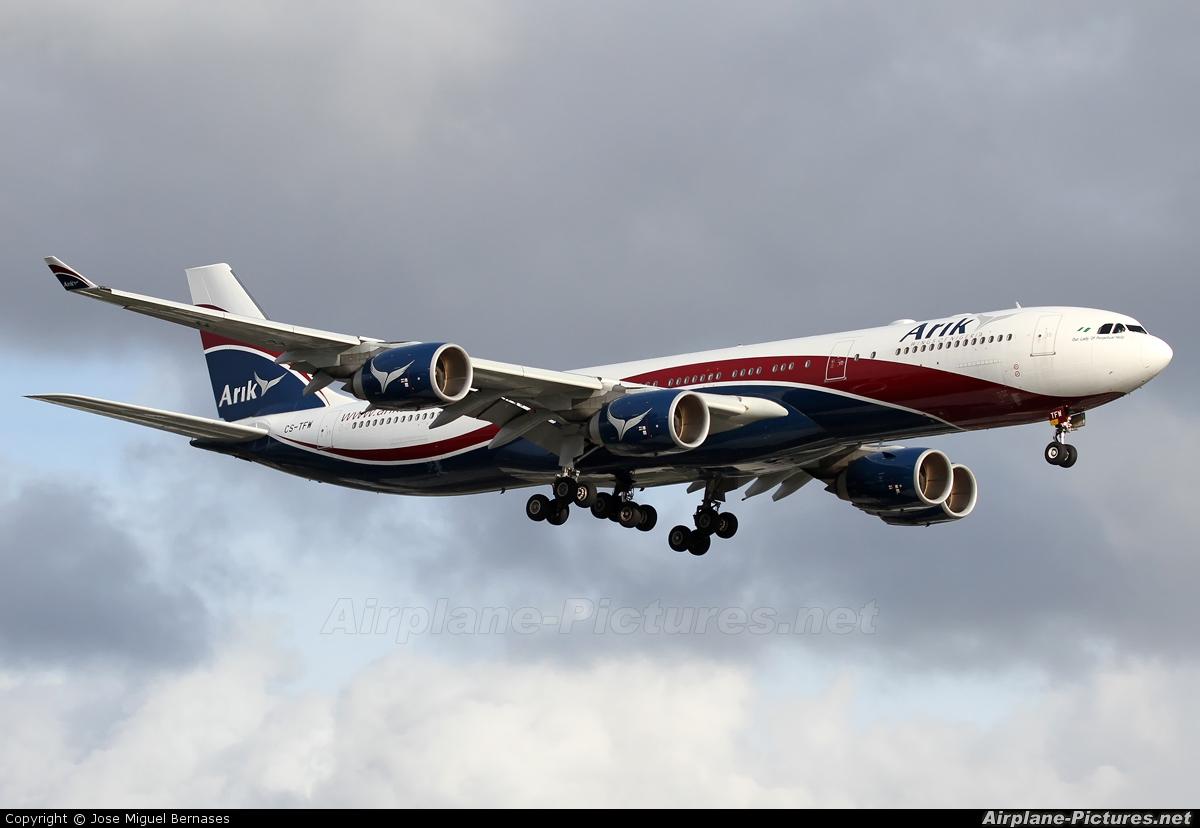 Arik Air CS-TFW aircraft at London - Heathrow