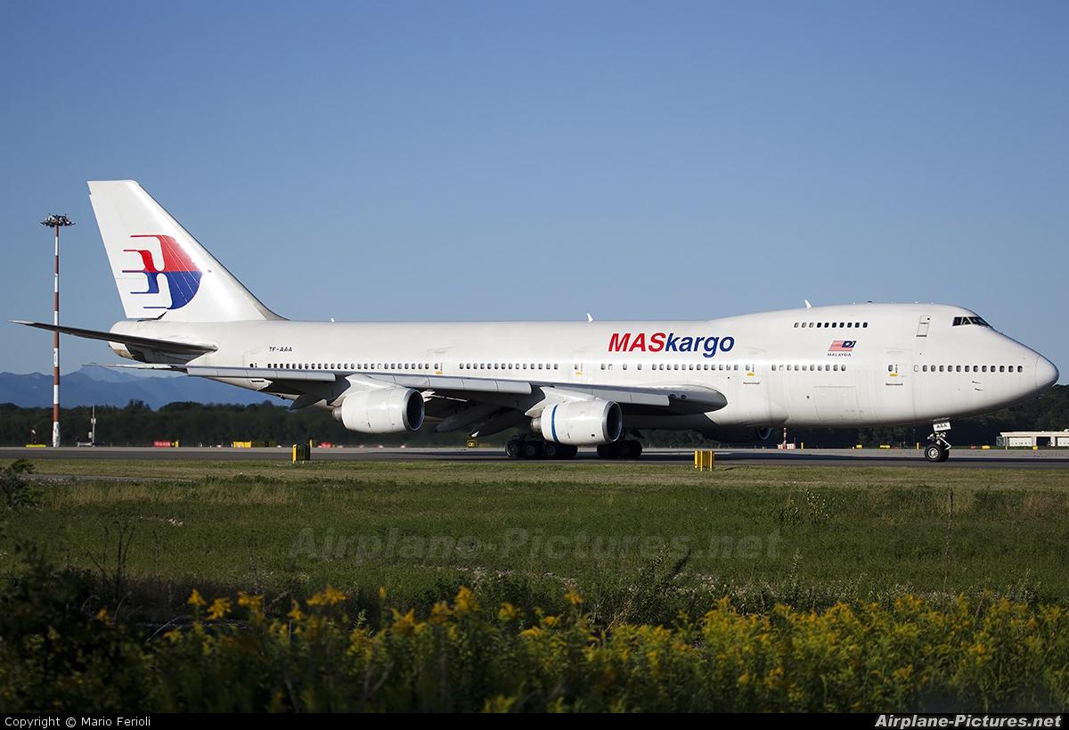 MASkargo TF-AAA aircraft at Milan - Malpensa