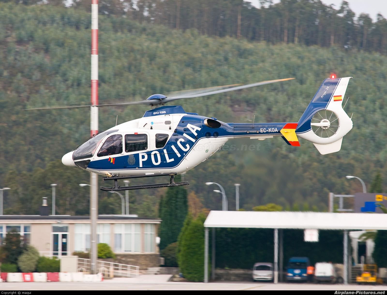 Spain - Police EC-KOA aircraft at La Coruña
