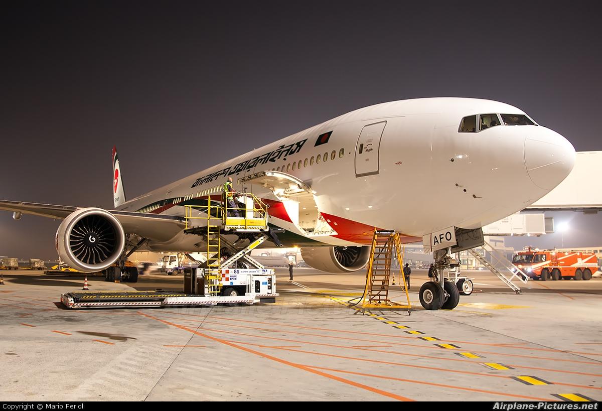 Biman Bangladesh S2-AFO aircraft at Milan - Malpensa