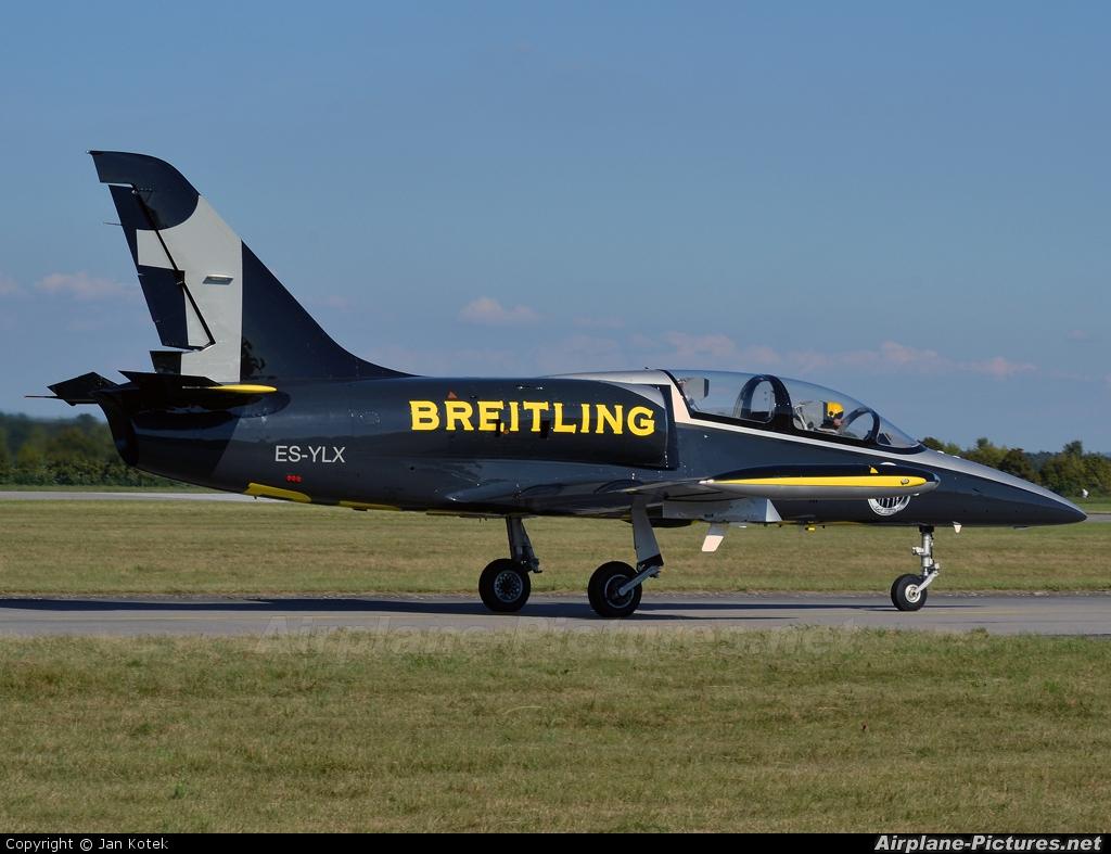 Breitling Jet Team ES-YLX aircraft at Hradec Králové