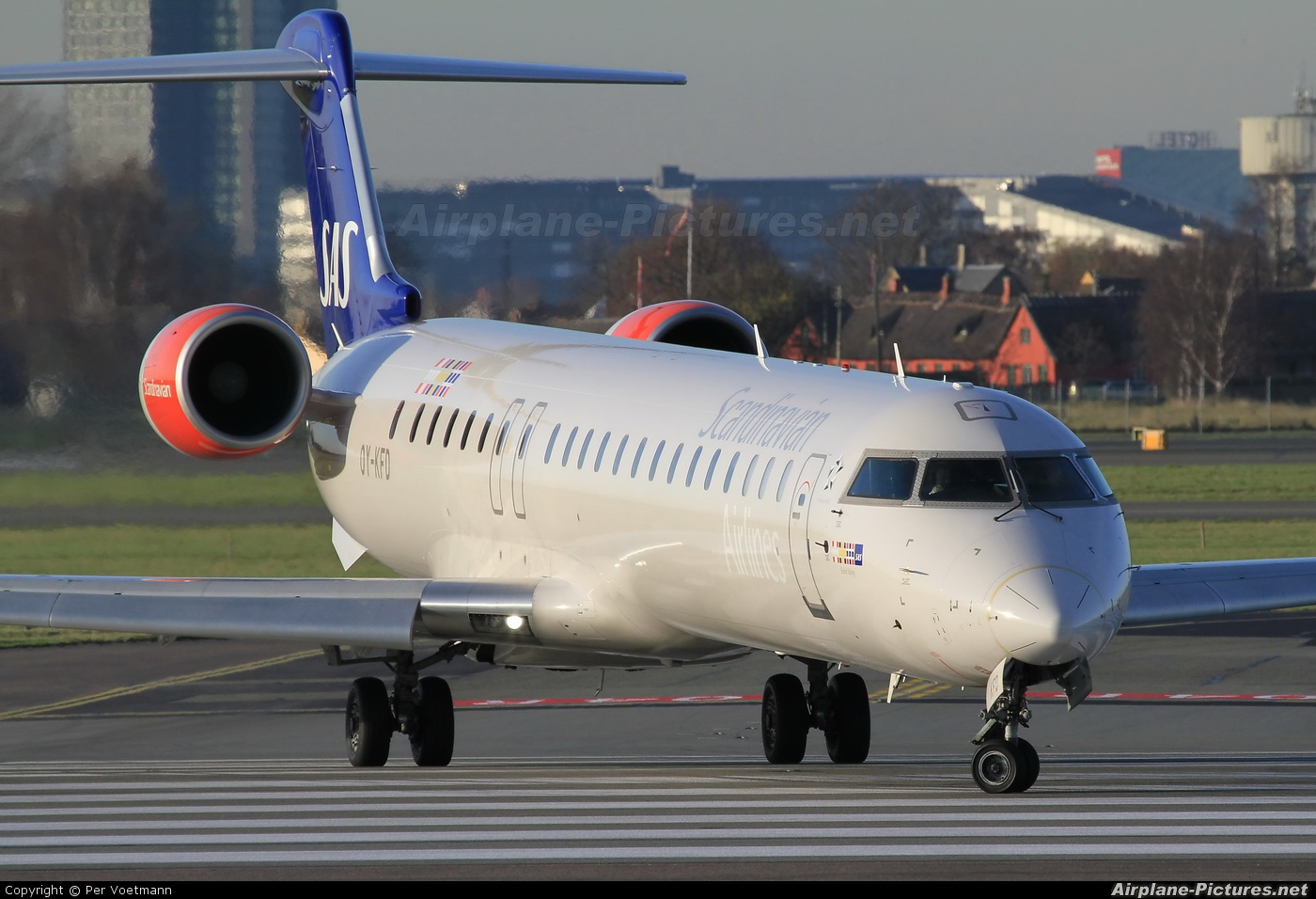 SAS - Scandinavian Airlines OY-KFD aircraft at Copenhagen Kastrup