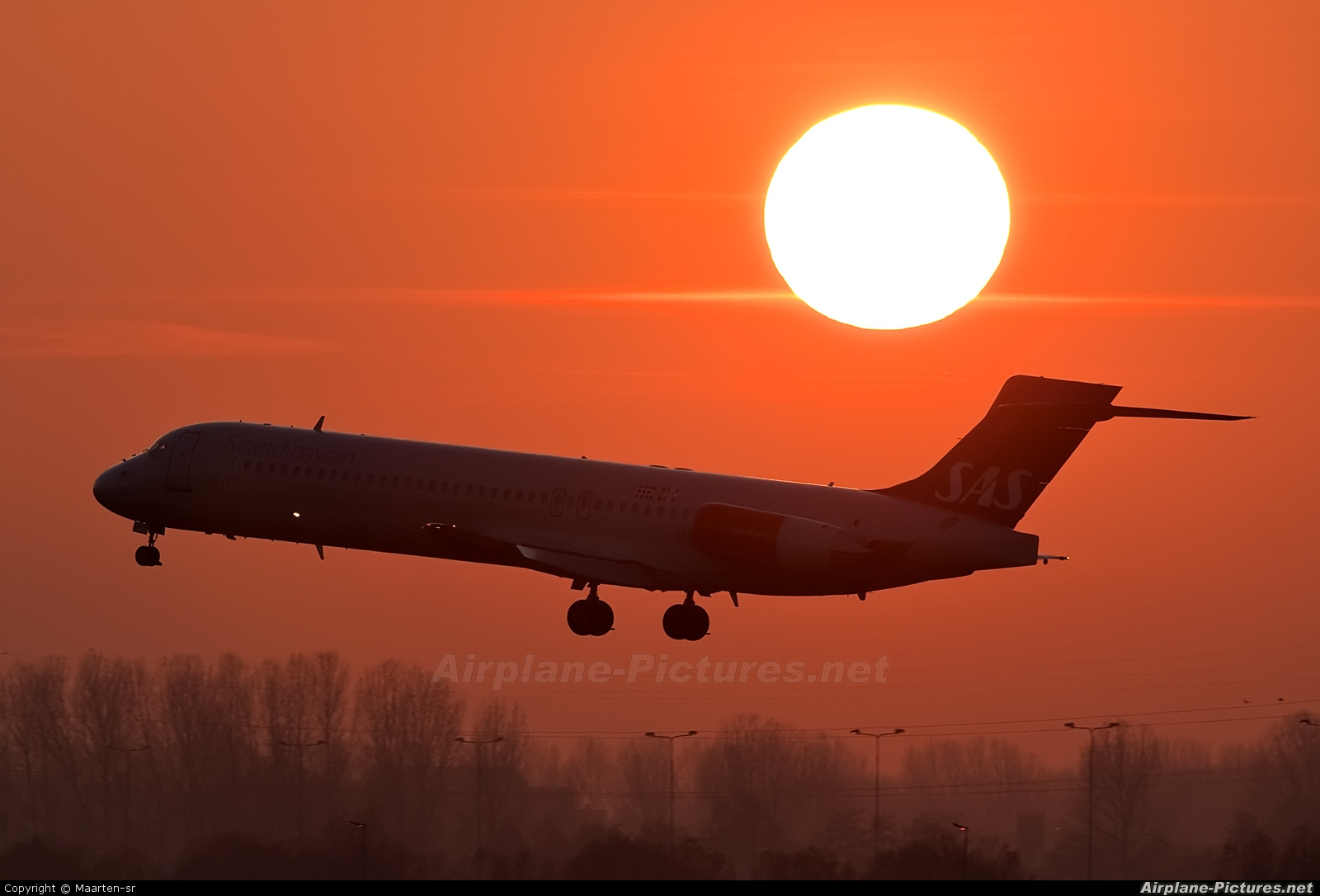 SAS - Scandinavian Airlines OY-KHU aircraft at Amsterdam - Schiphol