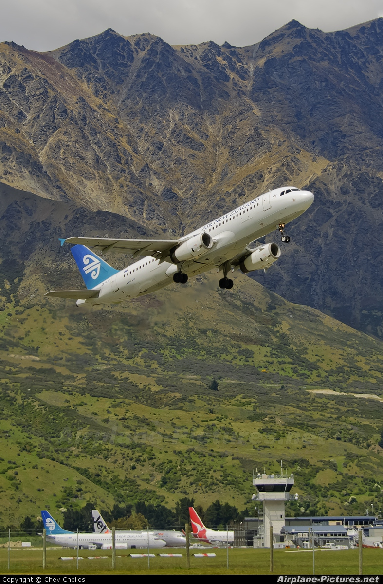 Air New Zealand ZK-OJE aircraft at Queenstown - Frankton