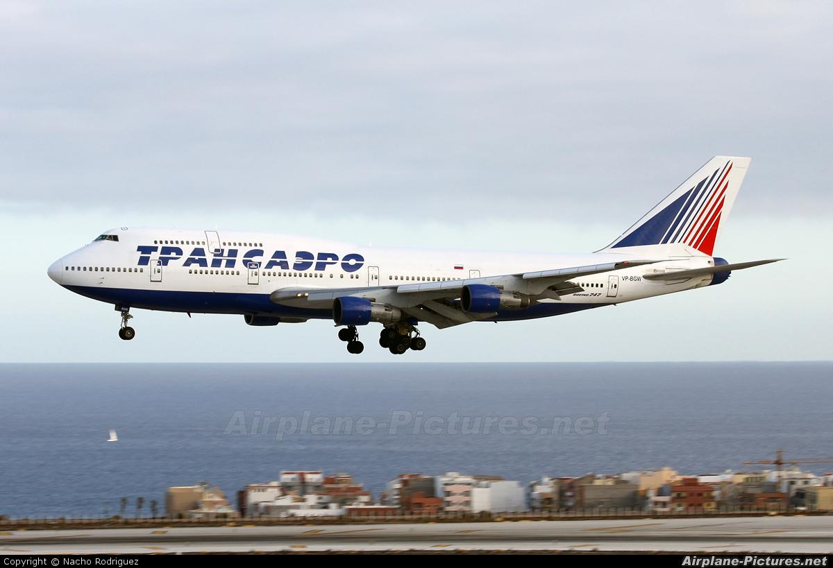 Transaero Airlines VP-BGW aircraft at Tenerife Sur - Reina Sofia