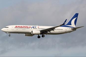 TC-JHH - AnadoluJet Boeing 737-800
