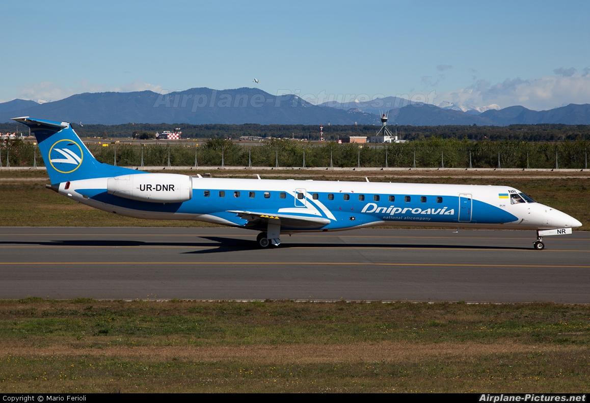 Dniproavia UR-DNR aircraft at Milan - Malpensa