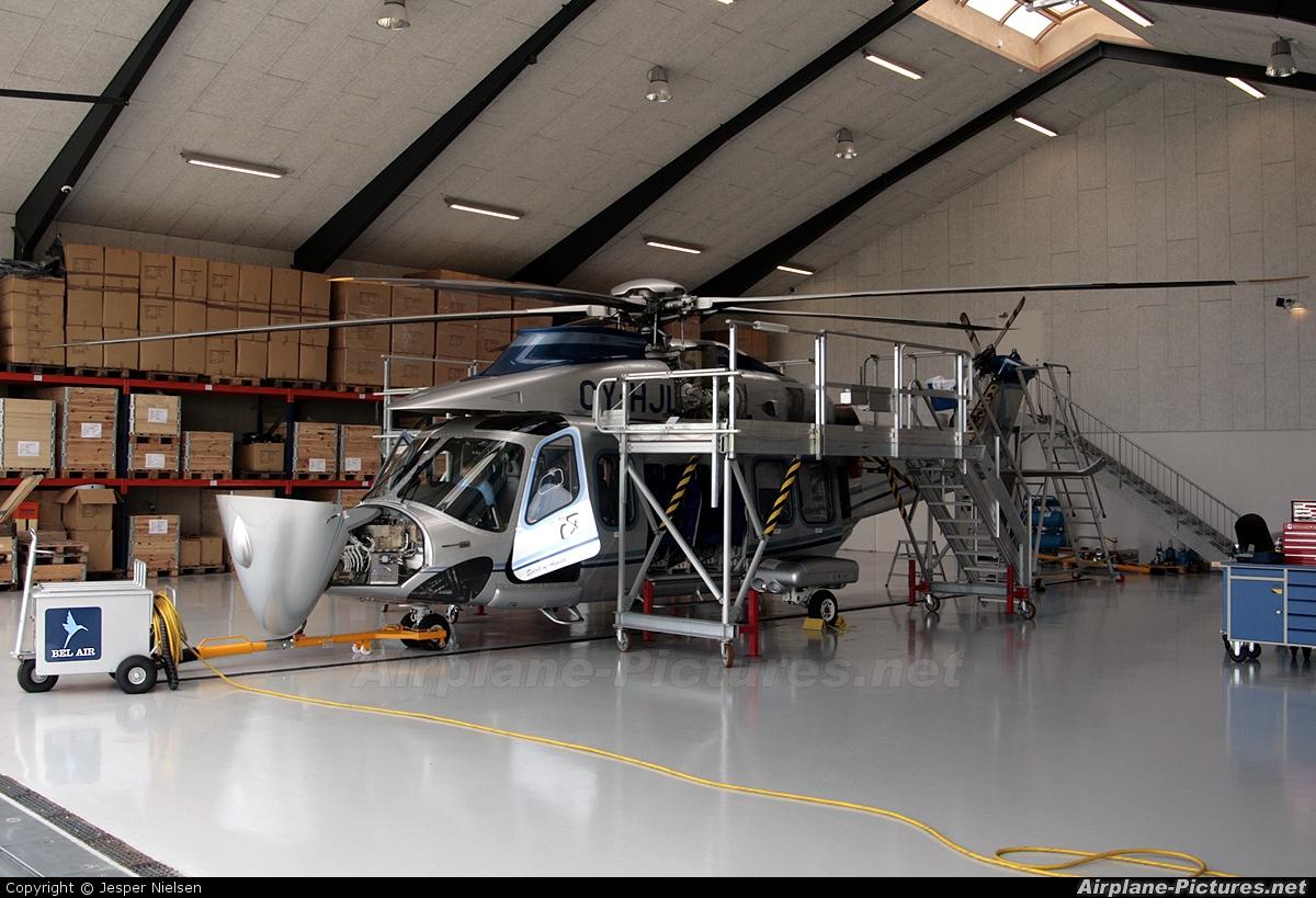 Bel Air Aviation OY-HJL aircraft at Esbjerg