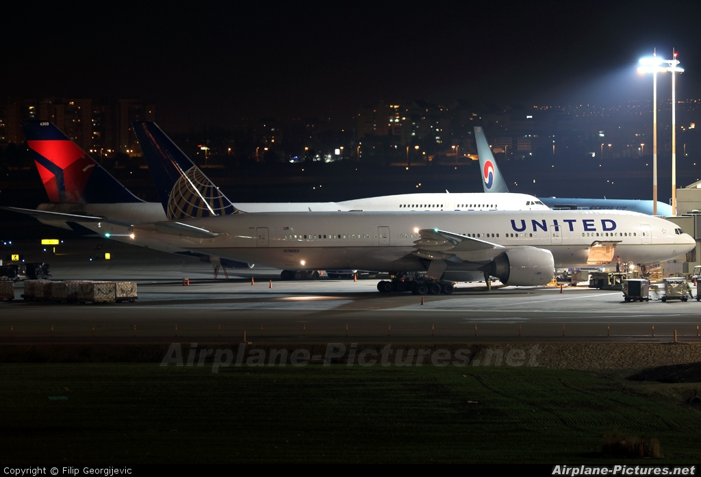 United Airlines N78003 aircraft at Tel Aviv - Ben Gurion