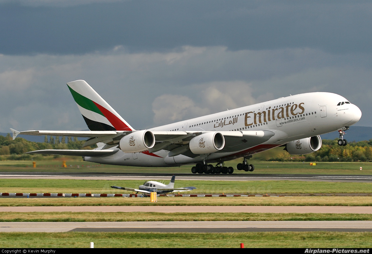 Emirates Airlines A6-EDJ aircraft at Manchester