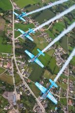 "G-ZEXL - 2 Excel Aviation ""The Blades Aerobatic Team"" Extra 300L, LC, LP series"